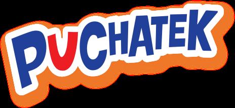 puchatek logo - napis